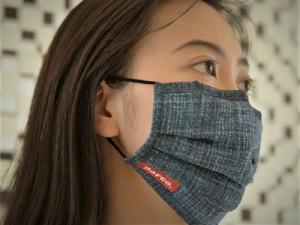 KEAN012 #202 STONE WASH JEAN multi-purposes cloth mask foundry Taiwan